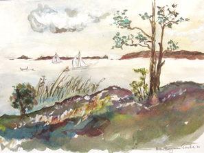 Astri Bergman Taube Akvareller