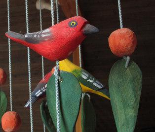 Fågelskulptur, detalj
