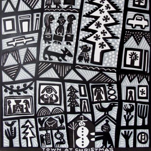 """Hilke MacIntyre """" Town at Christmas"""""""