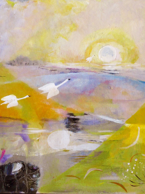 "Diane Griffiths  ""Swan Moon"""