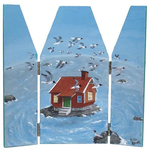 "Hilda Kernell ""Albert Engström's house"", triptych"