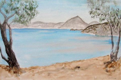Adamos badstrand på MIlos, sept 79