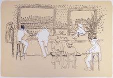 Café Fin de Siècles trogna gäster...