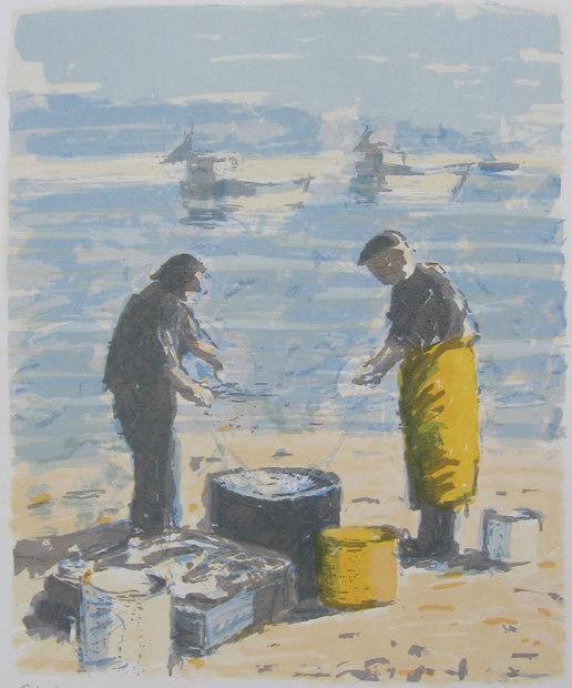 Fiskare på kajen