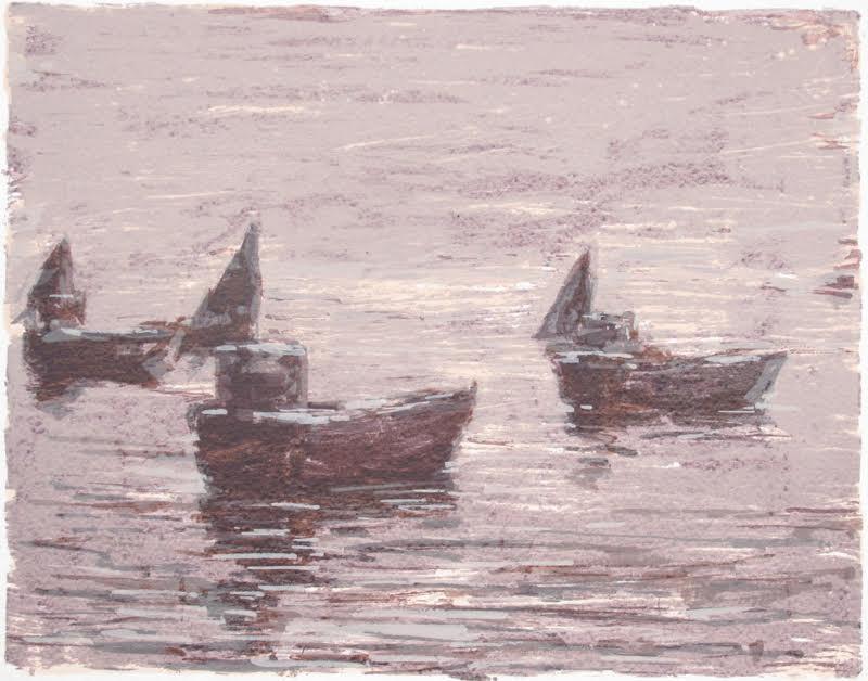 Båtar i dis, Bretagne