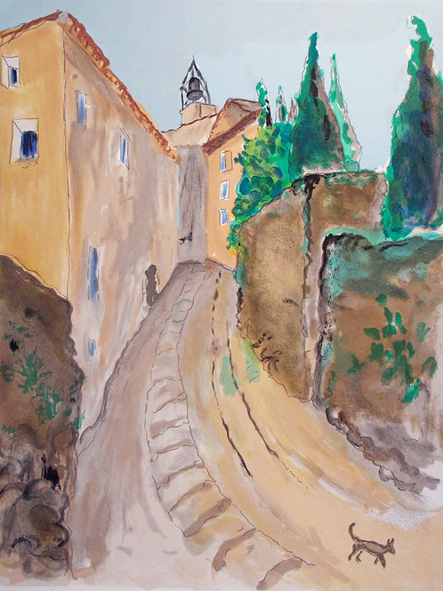 "Astri Bergman Taube ""Rue de l'Eglise i Gordes"""