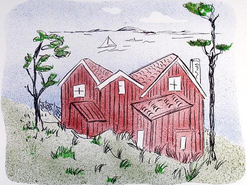 "Astri Bergman Taube ""Skärgårdssommar I"""