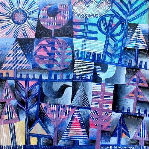 """Hilke MacIntyre  """"Blue Birds and Trees"""""""