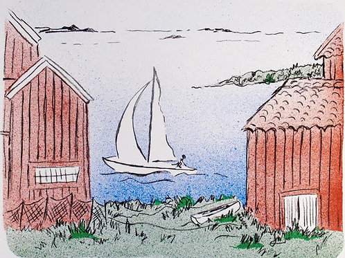 "Astri Bergman Taube ""Skärgårdssommar II"""