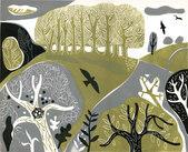 Landscape with blackbird