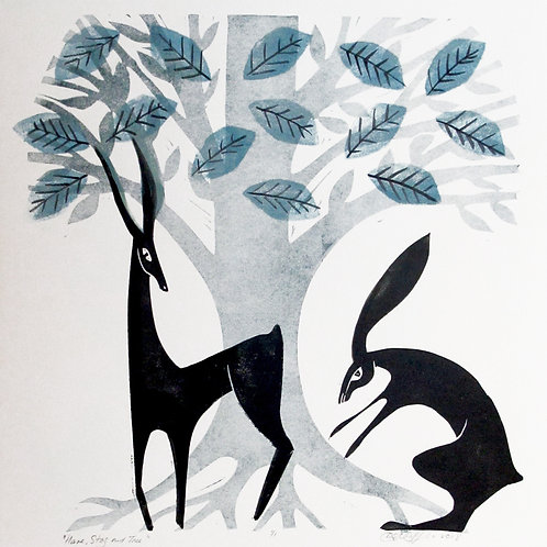 """Diane Griffiths  """"Hare, Stag and Tree"""""""