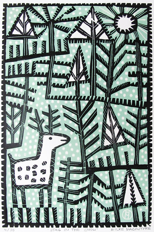 "Hilke MacIntyre ""Stag in the Snow"""