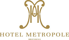 Logo of the 5-star historic hotel, Hotel Metropole Brussels