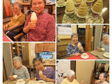ソフトクリームをみんなで食べたい