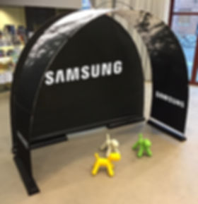 Samsung eventbåge med backdrop