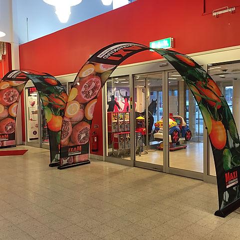 Bannerdisplay im Einzelhandel
