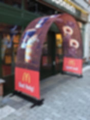McDonalds Event Arch Outdoor