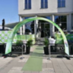 Event arch entrance