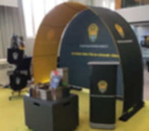 Event Arch and Backdrop as a exhibition stand