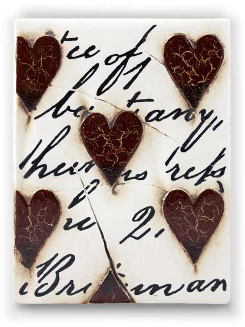 T-01 RED HEARTS WITH SCRIPT