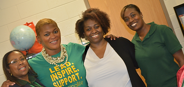 Left to Right: Cheryl McLaurin, School Social Worker; Joi Kilpatrick, Principal, Pamla DL Johnson