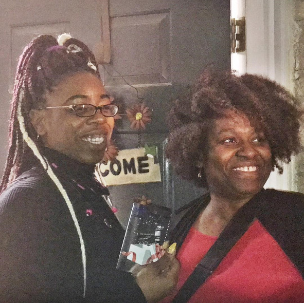 Christmas Eve 2018, Pamla DL Johnson, CEO of The William James & Rosa Lee Little Foundation, Inc. providing single mothers within a transitional housing program some holiday cheer!