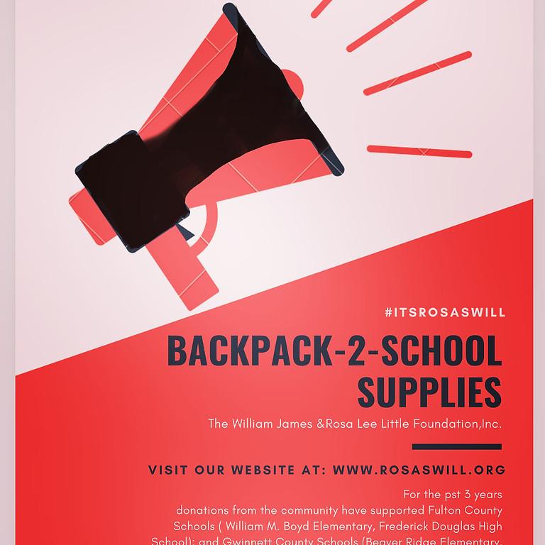 2020 Annual BackPacks-2-School GiveAway