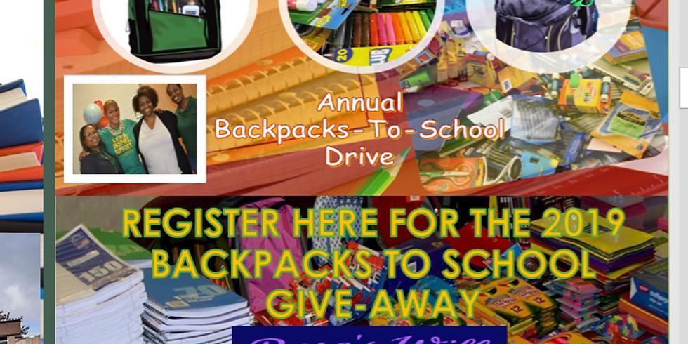 2019 Annual BackPacks-2-School GiveAway
