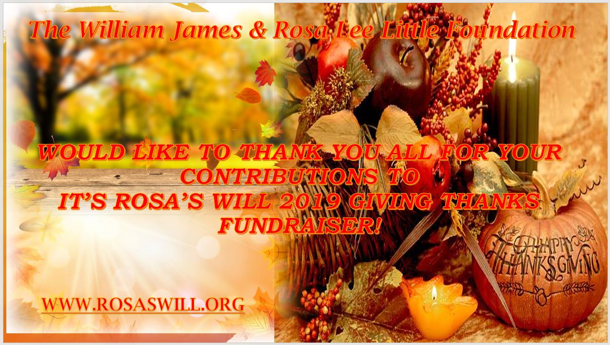 2019 GIVING THANKS Fundraiser