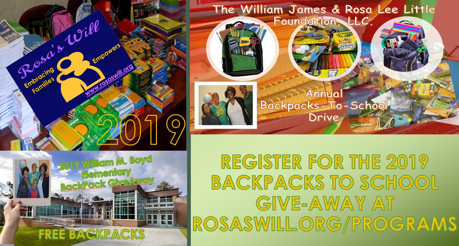 2019 BackPack-To-School Supplies Flyer
