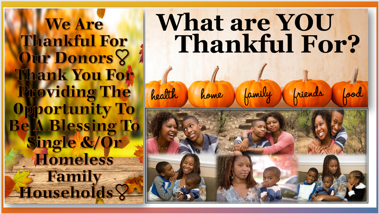 2019 GIVING THANKS For Our Donors