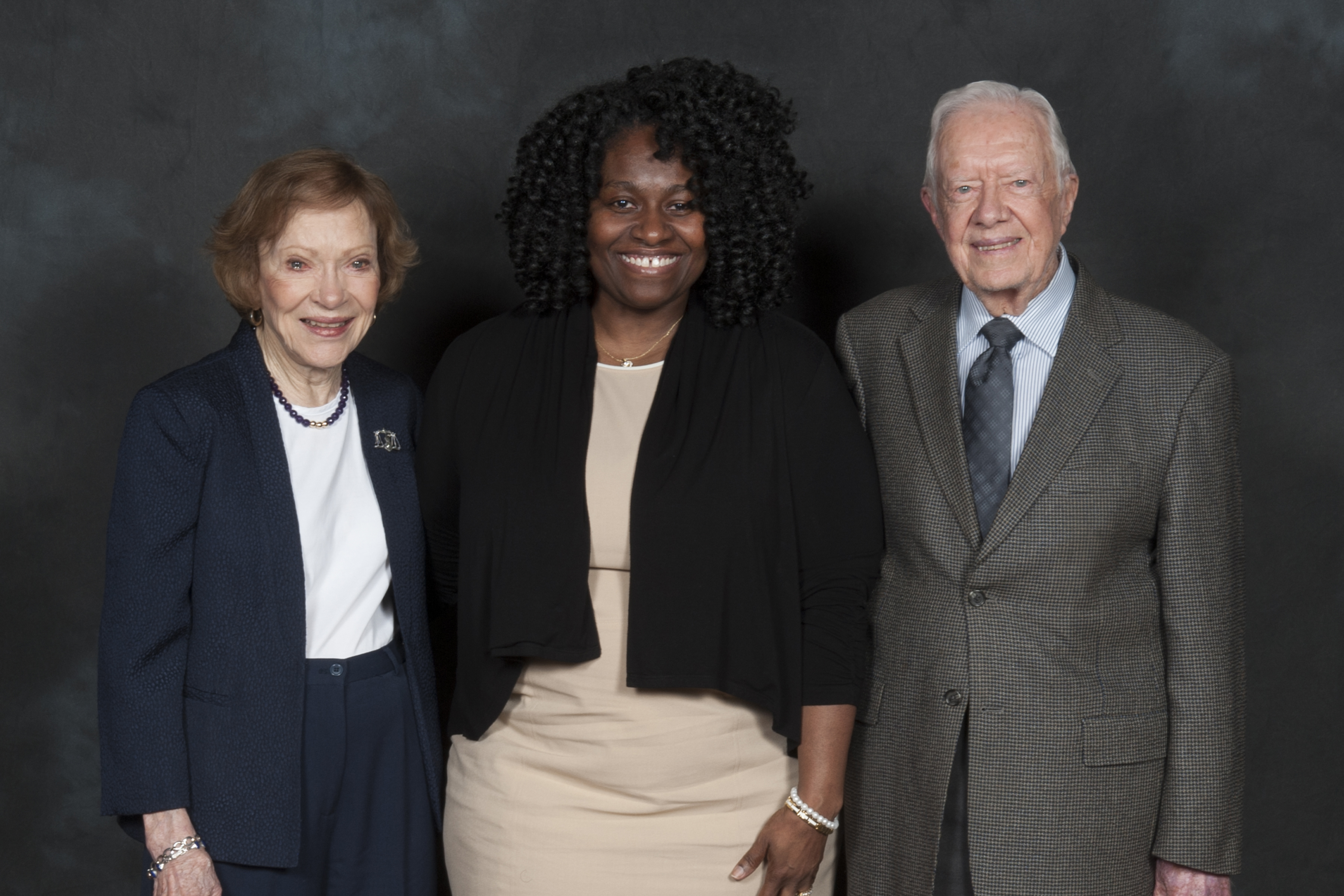 President Jimmy Carter, Pamla DL Johnson, and First Lady Rosalynn Carter