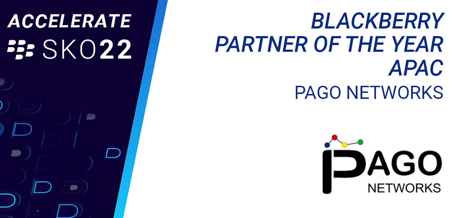 PAGO Networks - BlackBerry APAC Partner of the Year