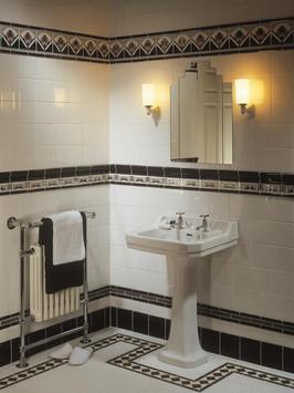 Koupelna v art deco stylu