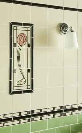 Květinový dekor Mackintosh style