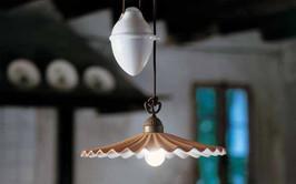 Retro stahovací lampa