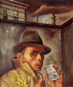 Self_Portrait_with_Jewish_Identity_Card_