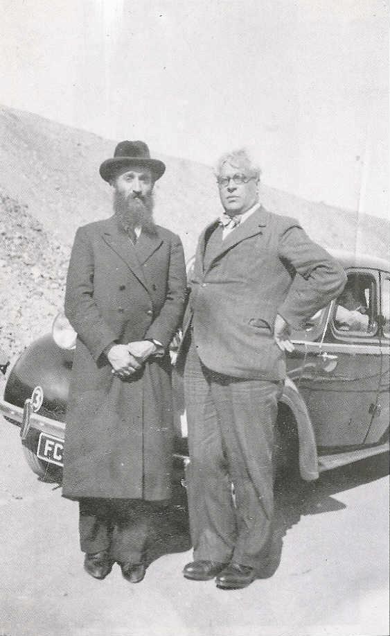 Sousa Mendes com o rabi Kruger, em 1940