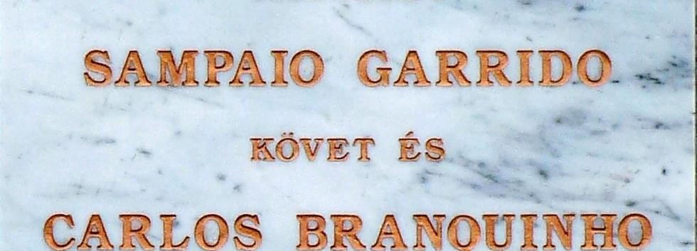 Placa de homenagem aos diplomatas portugueses- Budapeste