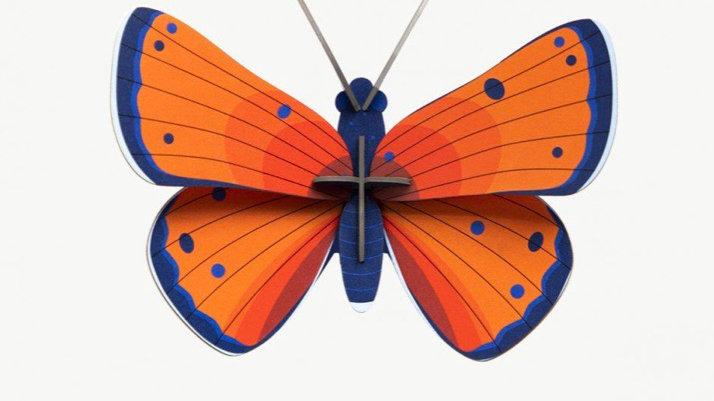 Studio Roof 3D Copper Butterfly