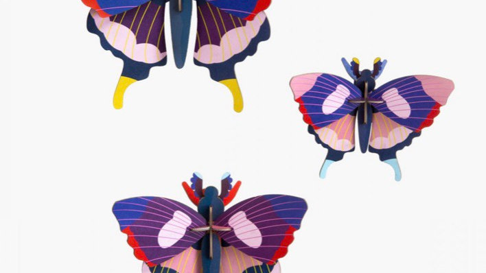 Studio Roof 3D Swallowtail Butterfly x 3