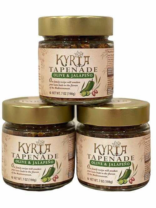 Kalamata Olive & Jalapeño Tapenade (3 Pack)