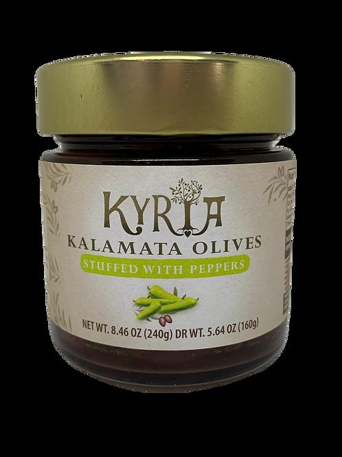 Kalamata Olive stuffed with Pepper (2 pack)