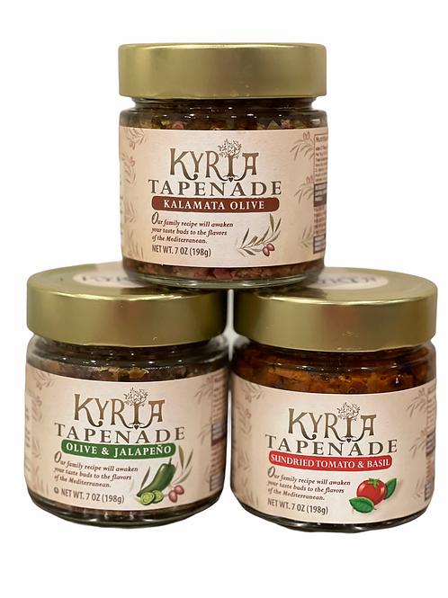Kalamata Olive, Jalapeño, & Sundried Tomato and Basil Tapenade Variety Pack