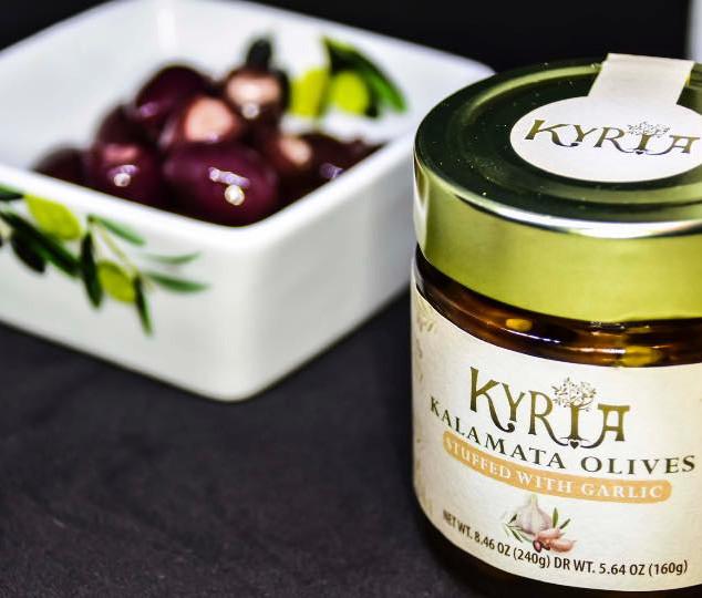 Kalamata Olives Stuffed with Garlic