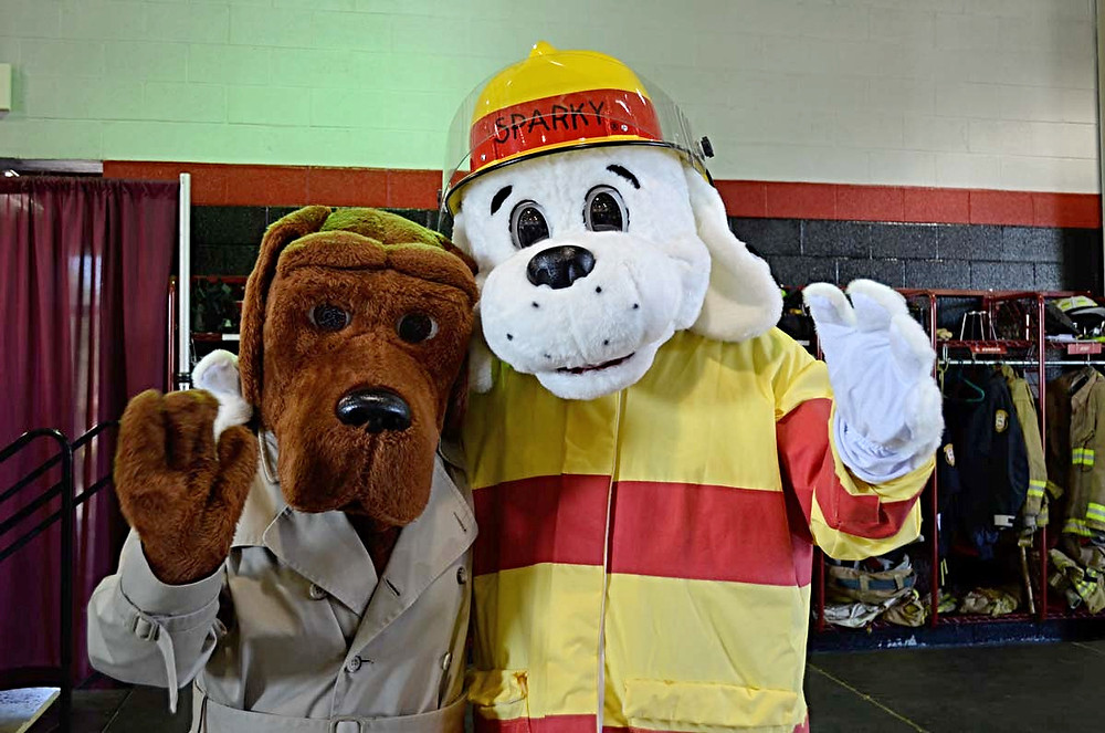 McGruff the Crime Dog and Sparky the Fire Dog will be on hand for Guns vs. Hoses.