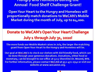 Join WeCAN in the Food Shelf Challenge