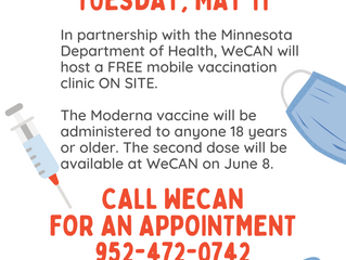 WeCAN to Host COVID-19 Vaccine Clinic