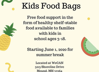 Summer Kids' Food Bags Available!