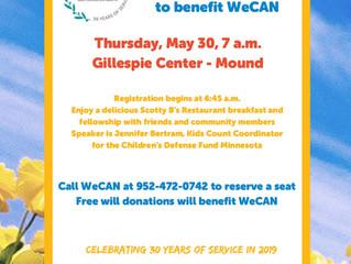 Community Breakfast is May 30